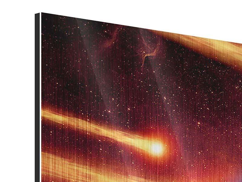Metallic-Bild 5-teilig modern Der Kosmos