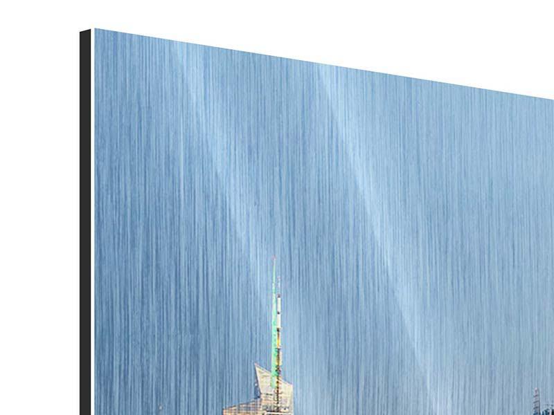 Metallic-Bild 5-teilig modern Skyline Midtown Manhattan