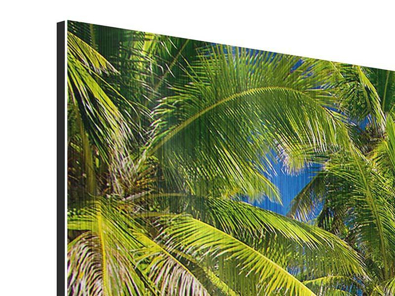 Metallic-Bild 5-teilig modern Die einsame Insel