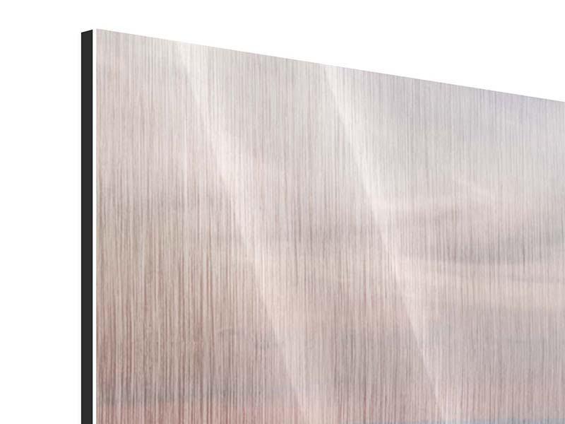Metallic-Bild 5-teilig modern Skyline Blick über Manhattan