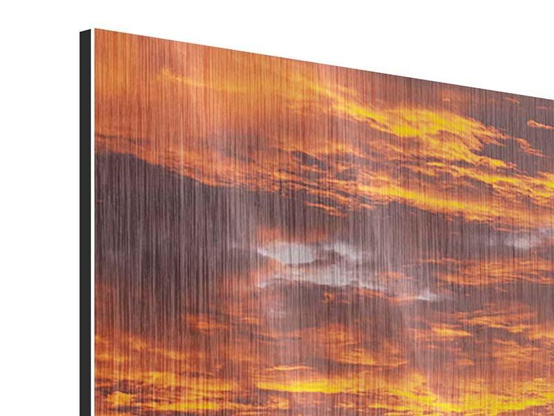 Metallic-Bild 5-teilig modern Entspannung am Meer