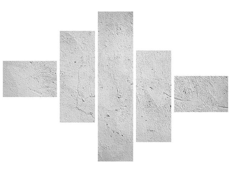 Metallic-Bild 5-teilig modern Beton