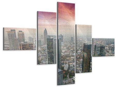 Metallic-Bild 5-teilig modern Skyline Penthouse in New York