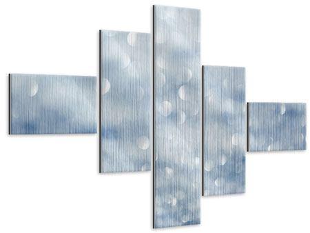 Metallic-Bild 5-teilig modern Kristallglanz