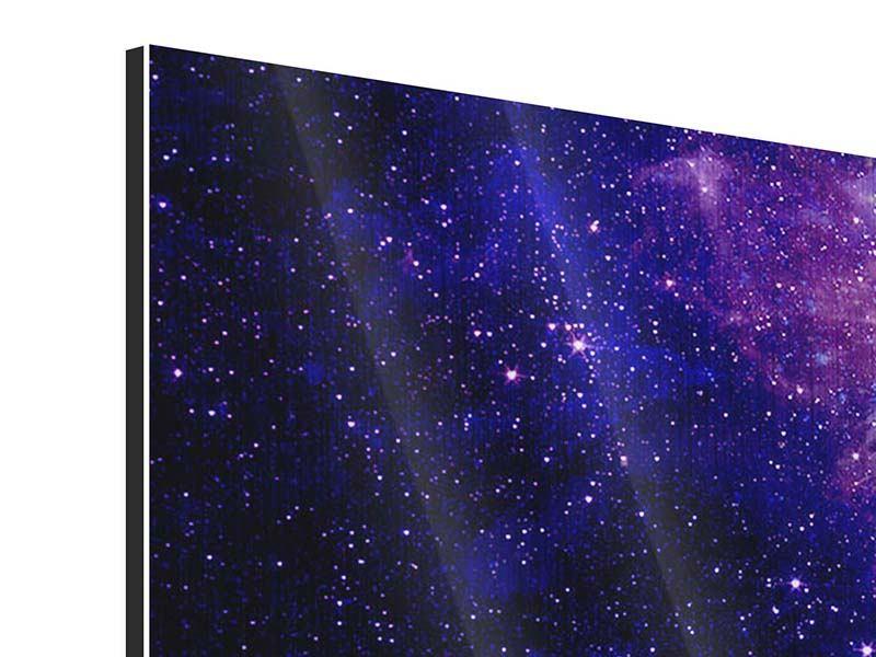Metallic-Bild 5-teilig modern Ein Himmel voll Sterne