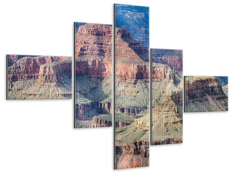 Metallic-Bild 5-teilig modern Gran Canyon