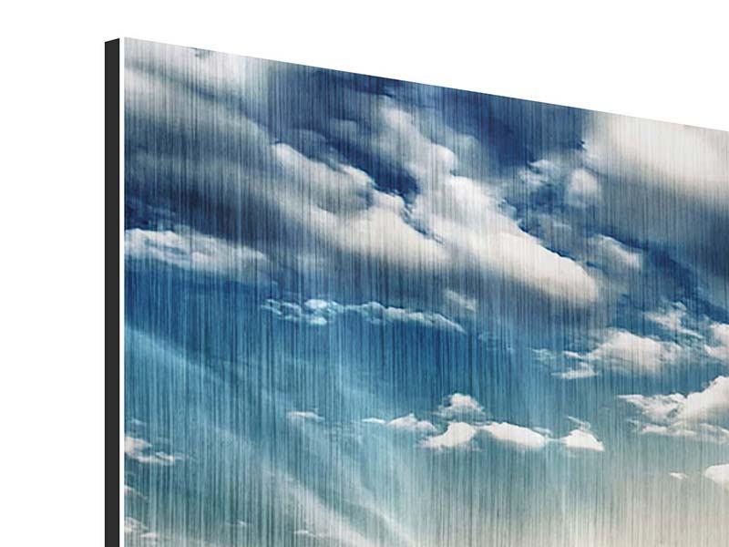 Metallic-Bild 5-teilig modern Skyline Über den Dächern von London