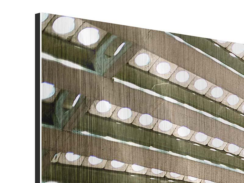 Metallic-Bild 5-teilig modern Abstraktes Rad
