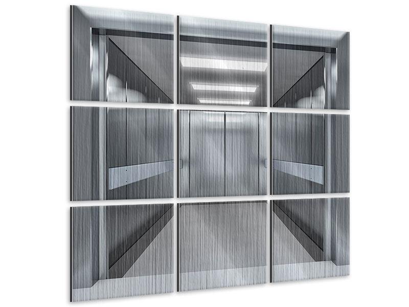 Metallic-Bild 9-teilig Aufzug