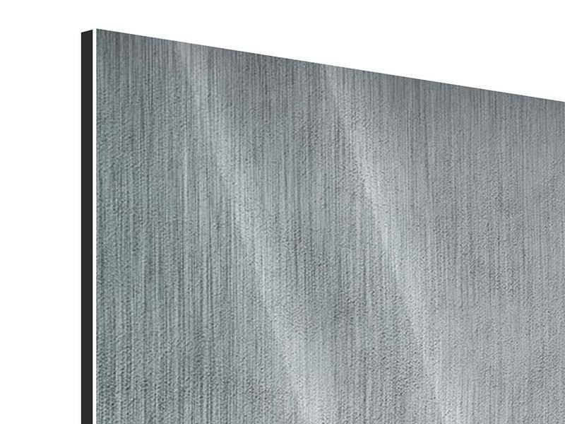 Metallic-Bild 9-teilig Dunkelgraue Wand