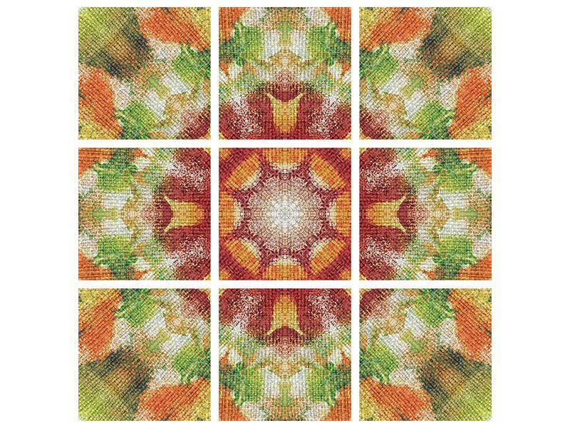 Metallic-Bild 9-teilig Musterung