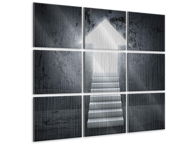 Metallic-Bild 9-teilig Der Aufstieg