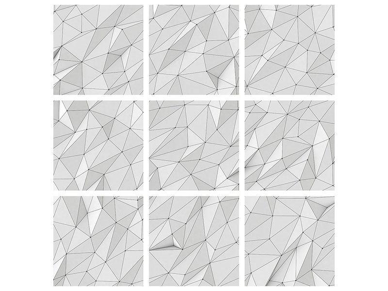 Metallic-Bild 9-teilig 3D-Geo