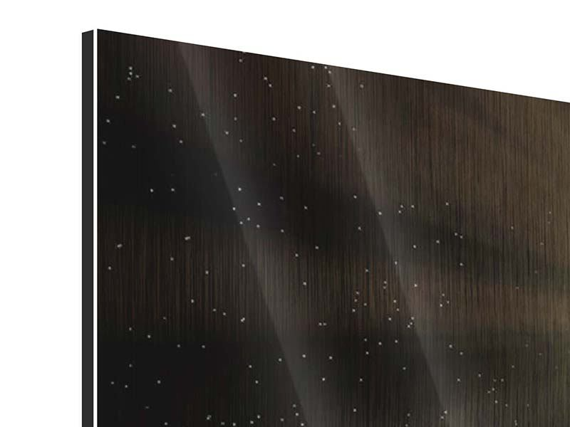 Metallic-Bild 9-teilig Das Raumschiff