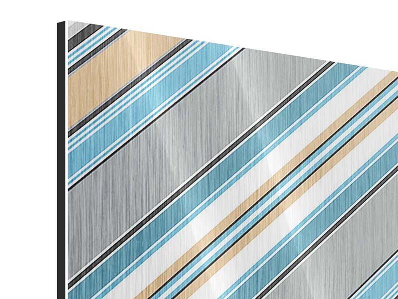 Metallic-Bild 9-teilig Farbstreifen