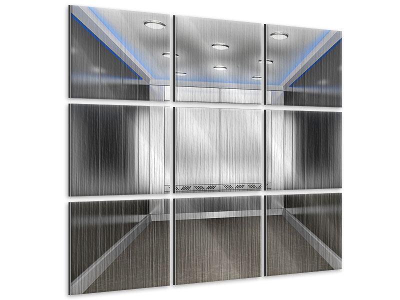 Metallic-Bild 9-teilig Eleganter Aufzug