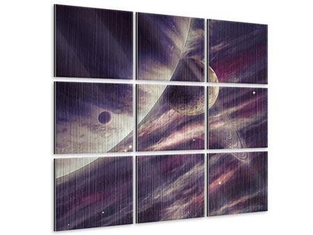 Metallic-Bild 9-teilig Weltraumreise