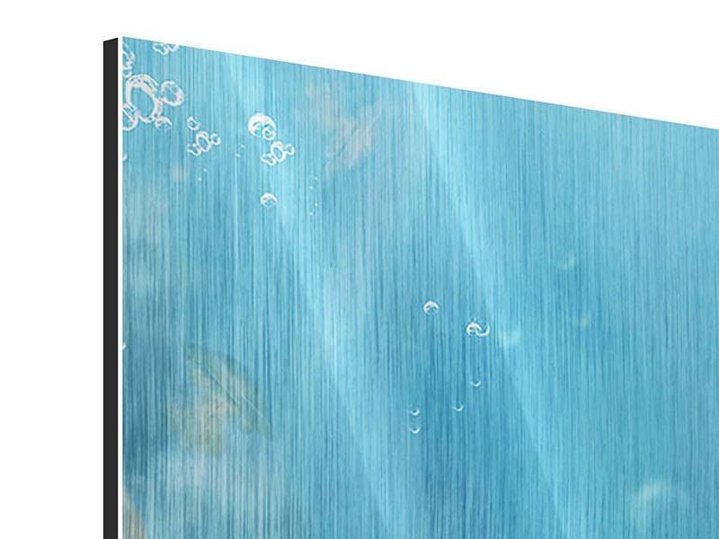 Metallic-Bild 9-teilig Unter Wasser