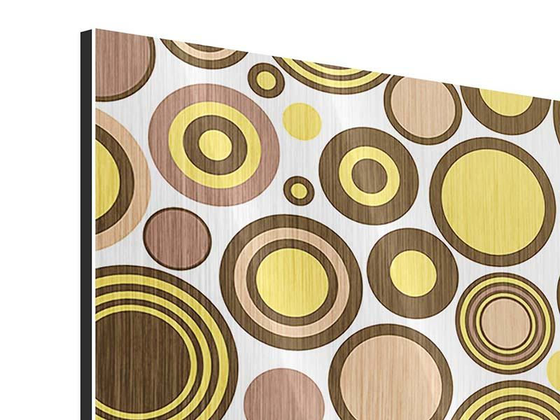 Metallic-Bild 9-teilig Kreise im Retrodesign