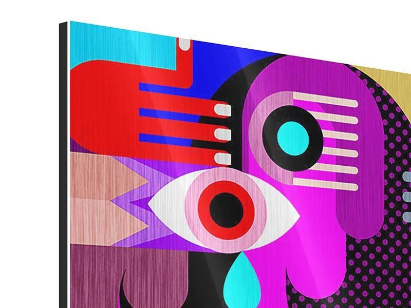 Metallic-Bild 9-teilig Moderne Kunst People