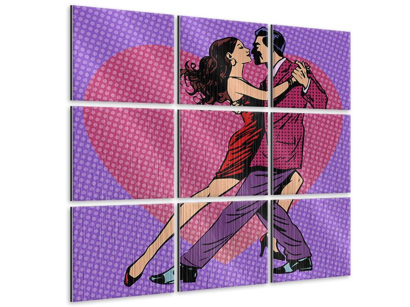 Metallic-Bild 9-teilig Pop Art Lambada