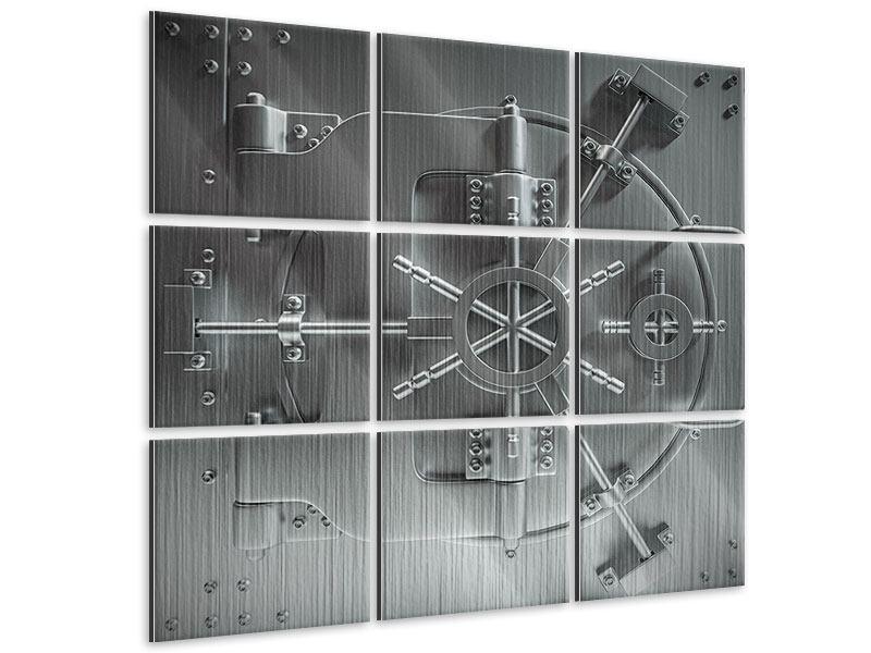 Metallic-Bild 9-teilig Tresor