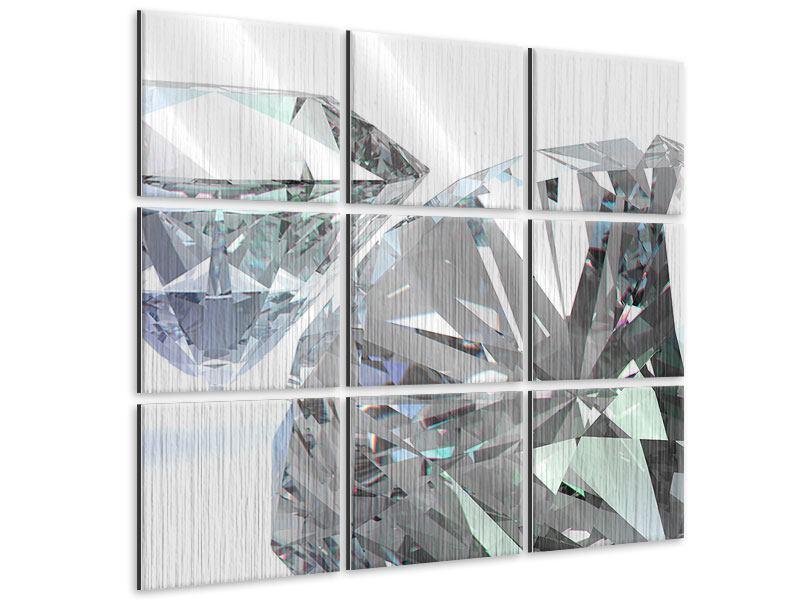 Metallic-Bild 9-teilig XXL Diamant