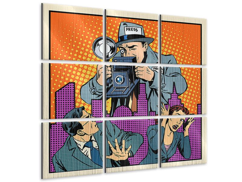 Metallic-Bild 9-teilig Pop Art Paparazzi
