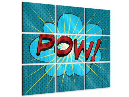 Metallic-Bild 9-teilig Pop Art Pow