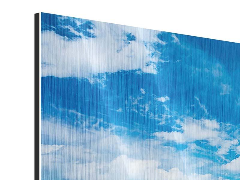Metallic-Bild 9-teilig Himmel und Wasser