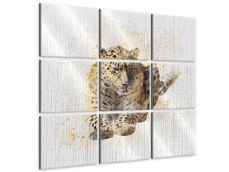 Metallic-Bild 9-teilig Luxgemälde