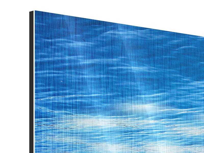 Metallic-Bild 9-teilig Licht unter Wasser