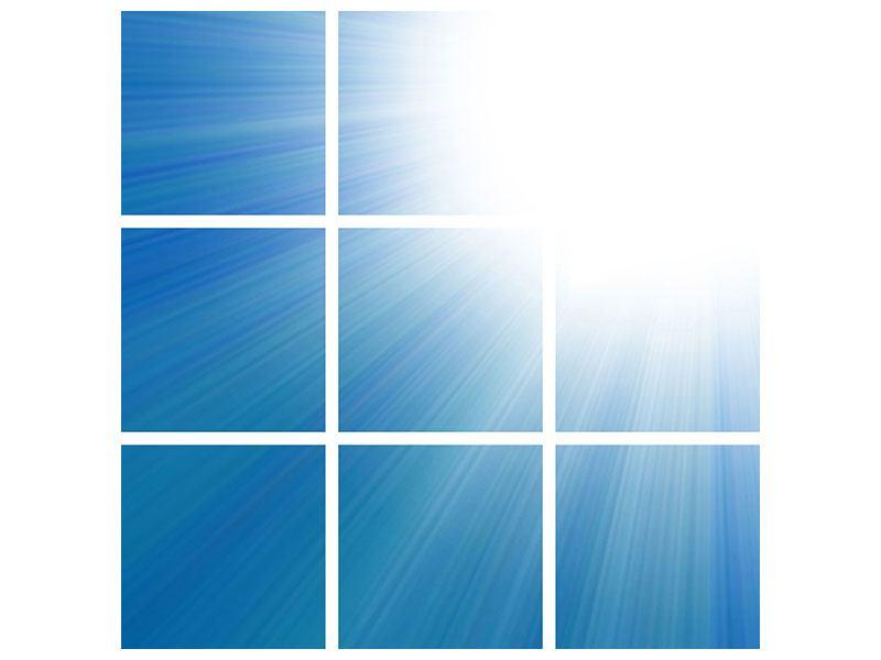 Metallic-Bild 9-teilig Der Himmel