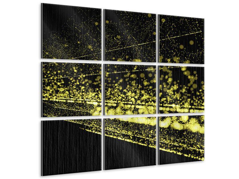 Metallic-Bild 9-teilig Abstrakte Lichter