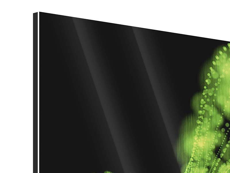 Metallic-Bild 9-teilig Grünes Lichterspiel