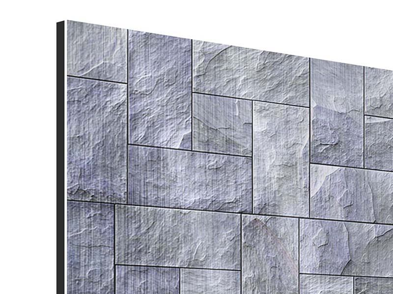 Metallic-Bild 9-teilig Schiefer