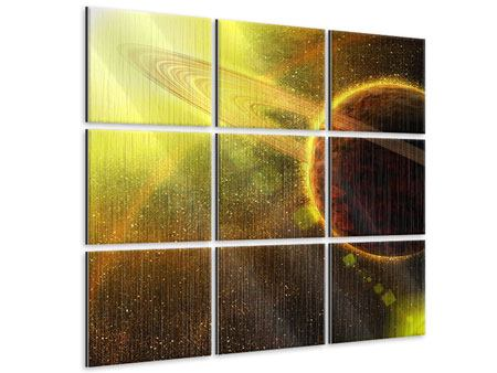 Metallic-Bild 9-teilig Sterne