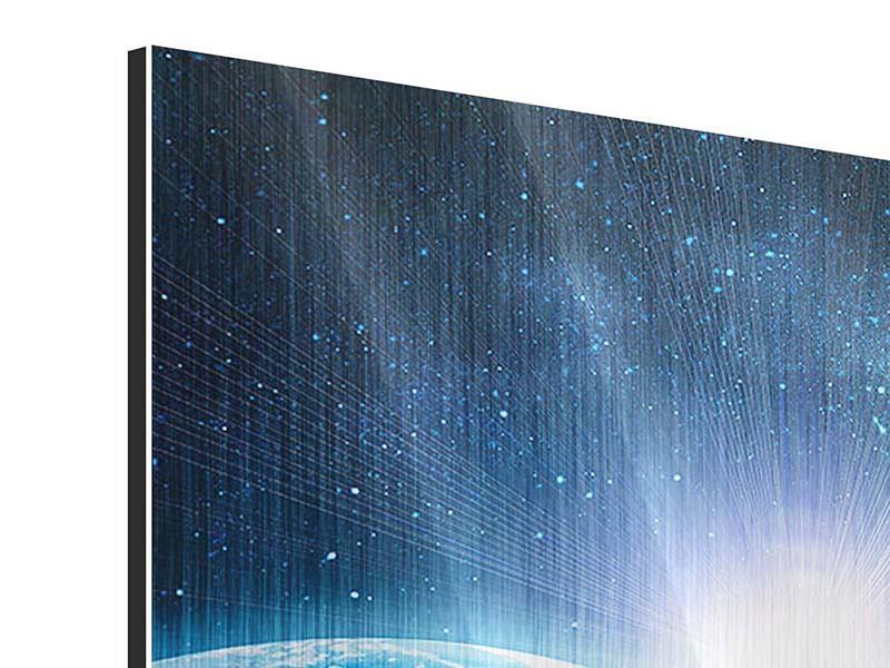 Metallic-Bild 9-teilig Galaxien