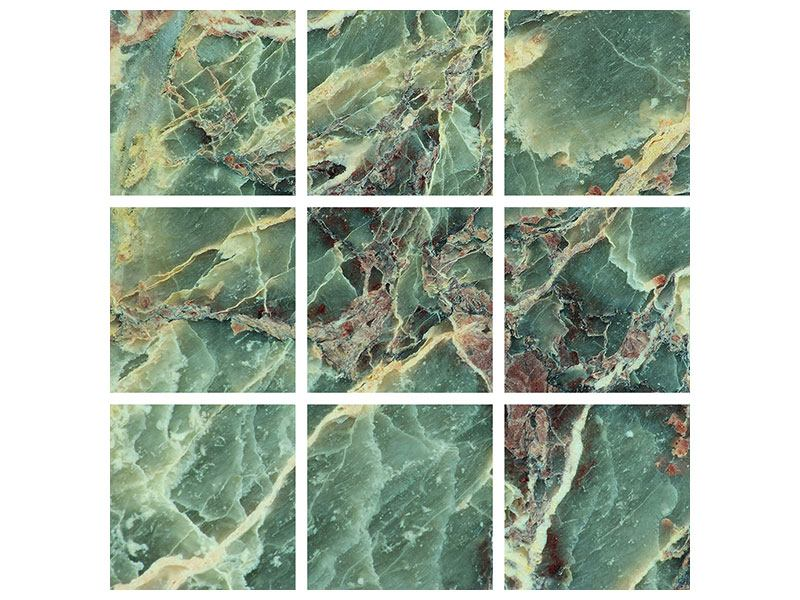 Metallic-Bild 9-teilig Marmor