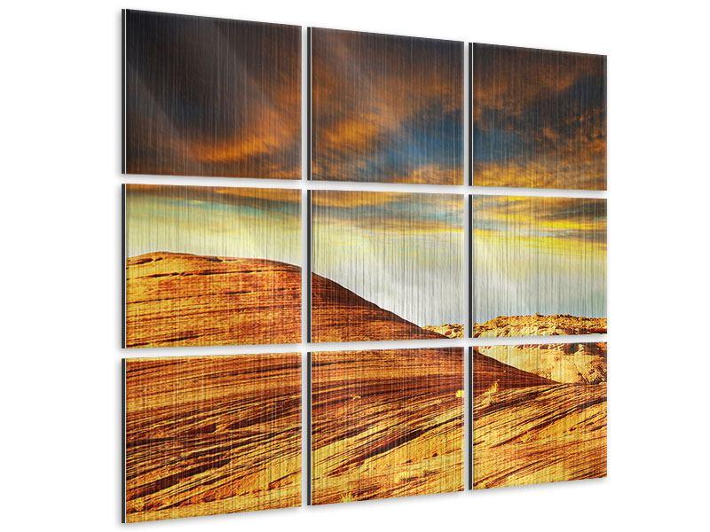 Metallic-Bild 9-teilig Die Wüste
