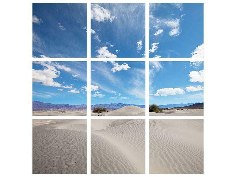 Metallic-Bild 9-teilig Wüstenlandschaft