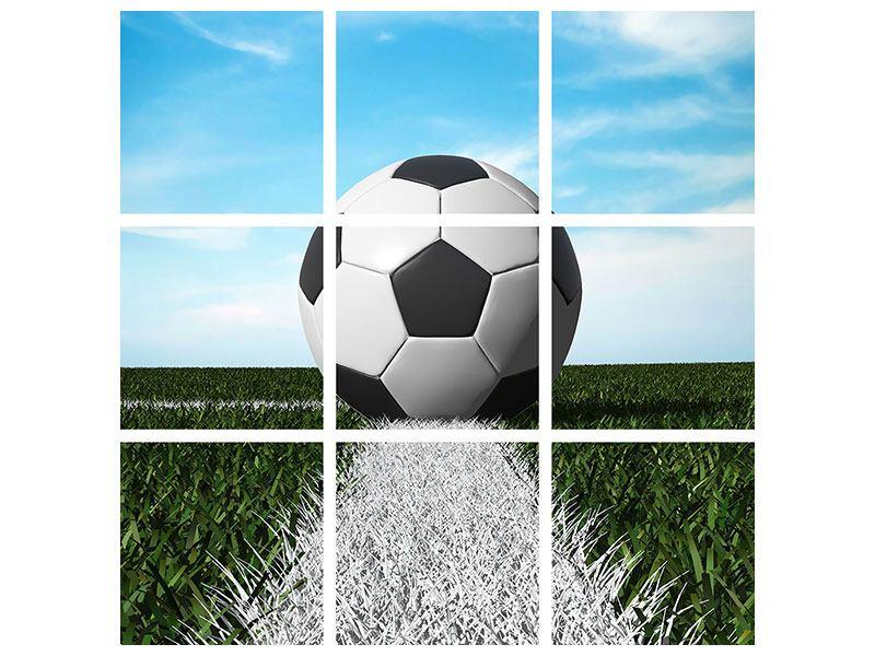 Metallic-Bild 9-teilig Der Fussball