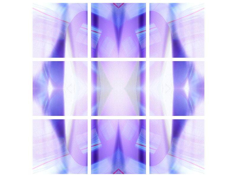 Metallic-Bild 9-teilig Abstrakte Sicht