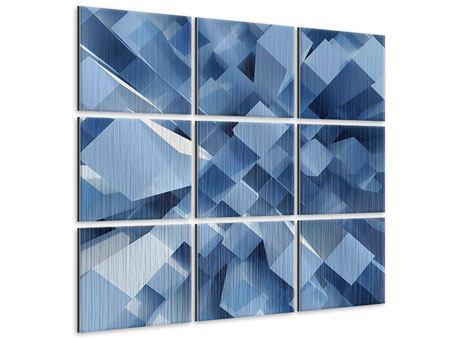 Metallic-Bild 9-teilig 3D-Säulen