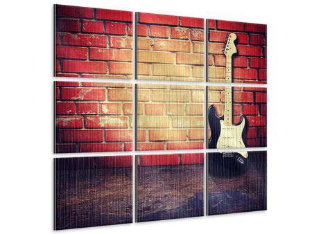 Metallic-Bild 9-teilig E-Gitarre