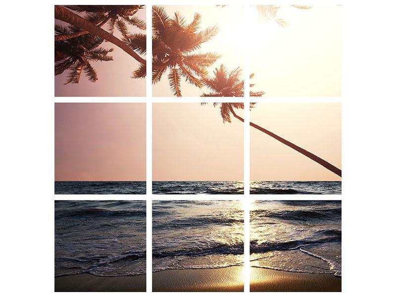 Metallic-Bild 9-teilig Am Meer