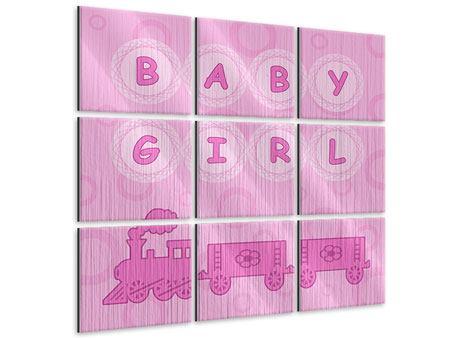Metallic-Bild 9-teilig Baby-Girl