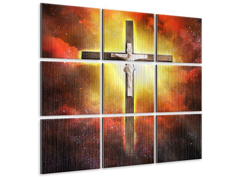 Metallic-Bild 9-teilig Heiliges Kreuz