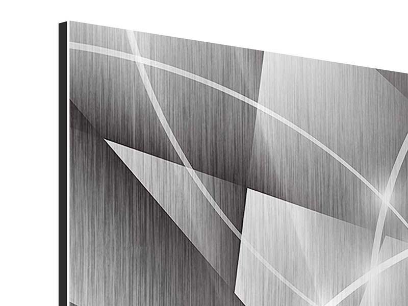 Metallic-Bild 9-teilig Geometrie