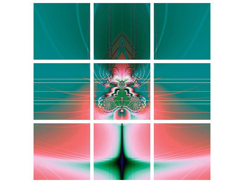Metallic-Bild 9-teilig Fever
